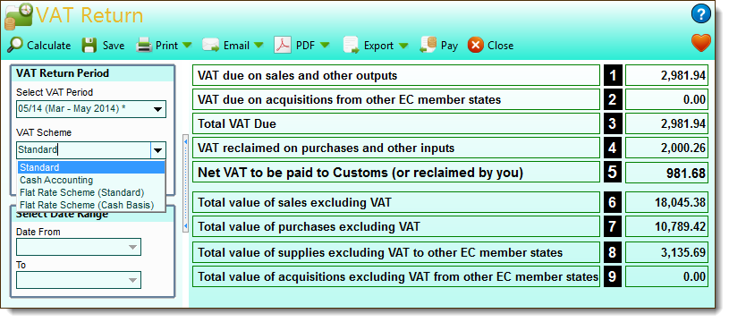 VAT returns - small business accounting software